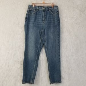 Topshop Moto Mom High Waisted Jeans